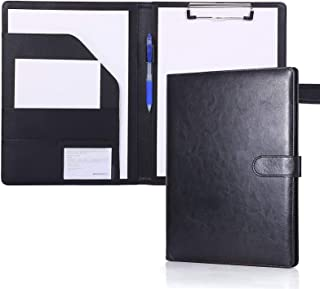 Folder A4 Clipboards Folder Hardboard Folder for Legal Pad Faux Leather Folder Work Writing Foldover Clipboard with Cover ...