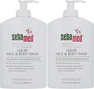 Sebamed Liquid Face & Body Wash with Pump Gentle Hydrating Cleanser (400 Milliliter Bottles with Pump) Pack of 2