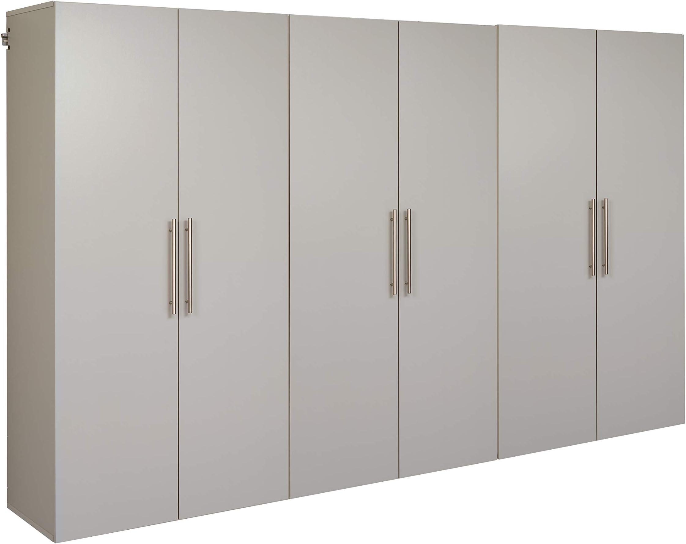 Prepac HangUps Storage Cabinet Set, E-3 pc, Light Gray