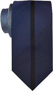 Remo Sartori - Cravatta In Pura Seta Sfumata Con Riga Centrale Nera, Made In Italy, Uomo
