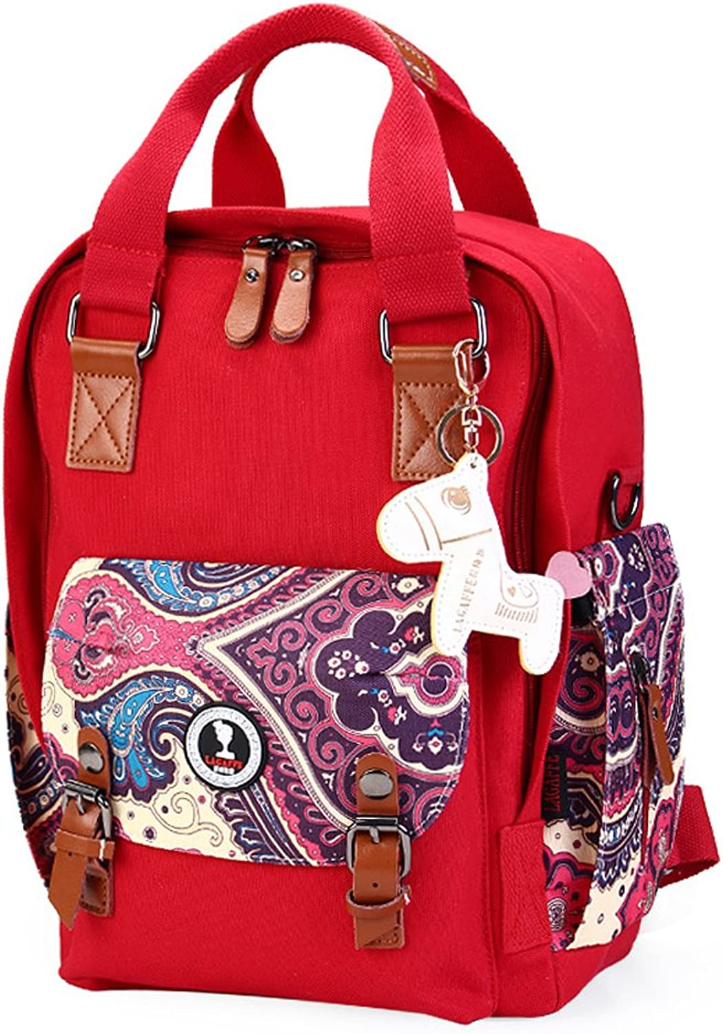 Multifunctional Large Mummy Backpack Crossbody Bag Canvas Anti-theif 16.2L
