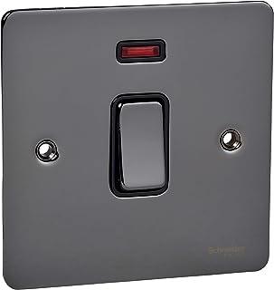 Schneider Electric GU2211BBN interruptor eléctrico Negro - Accesorio cuchillo eléctrico (Negro, Acero inoxidable, IP20, 20 A, 88 mm, 88 mm)