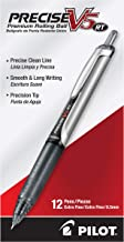 PILOT Precise V5 RT Refillable & Retractable Liquid Ink Rolling Ball Pens, Extra Fine Point (0.5mm) Black Ink, 12-Pack (26...