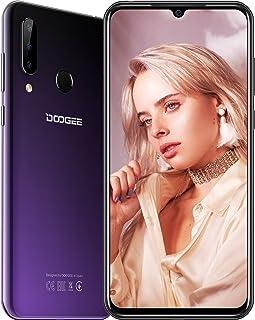 DOOGEE N20 (2019) SIM Móvil Libres, Helio P23 Octa-Core 4GB RAM 64GB ROM, 6.3 Pulgadas FHD + Waterdrop Pantalla Android 9.0 4G Smartphone, 16MP + 8MP + 8MP + 16MP, 4350mAh, 10W Carga Rápida, Púrpura