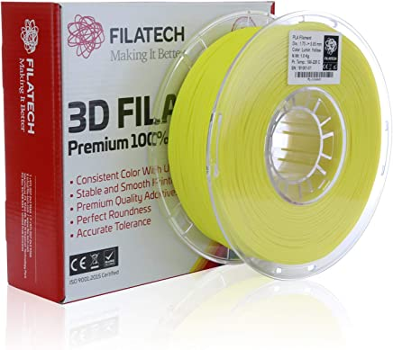 Filatech PLA Filament, Lum. Yellow, 1.75mm, 1KG
