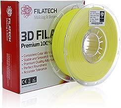 Filatech 3D Printing FilaTough Filament, 1.75 mm +/- 0.03 mm, 1.0 Kg Spool, 100% Virgin Material, Made in UAE Lumin Yellow FT120