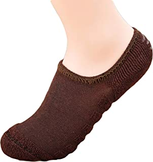 GRAPPLE DEALS Men's and Women's Woolen Towel Bottom with Anti Slip Ankle Socks (Multicolour, Free Size) -1 Pair