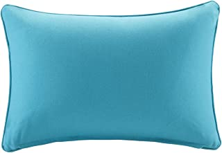 Madison Park Pacifica Solid 3M Scotchgard Outdoor Seat Cushion Pillow for Patio Garden and Courtyard, 14x20, Aqua