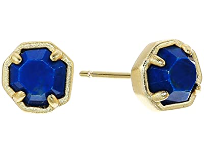 Kendra Scott Nola Stud Earrings (Gold Cobalt Howlite) Earring