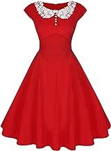 ACEVOG Women's Classy Vintage Audrey Hepburn Style 1940's Rockabilly Evening Dress