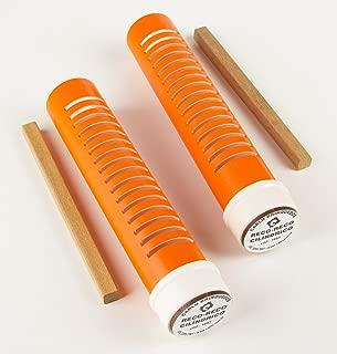 Musicalização Reco Cilíndrico 1 Par Pvc Embalagem Plástico Carlu Brinquedos
