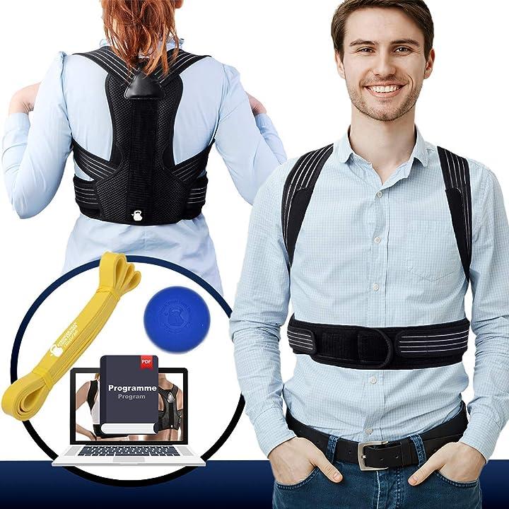 Correttore posturale spalle schiena dritta uomo donna. fascia posturale spalle e schiena traineatwell B081VRQJMB