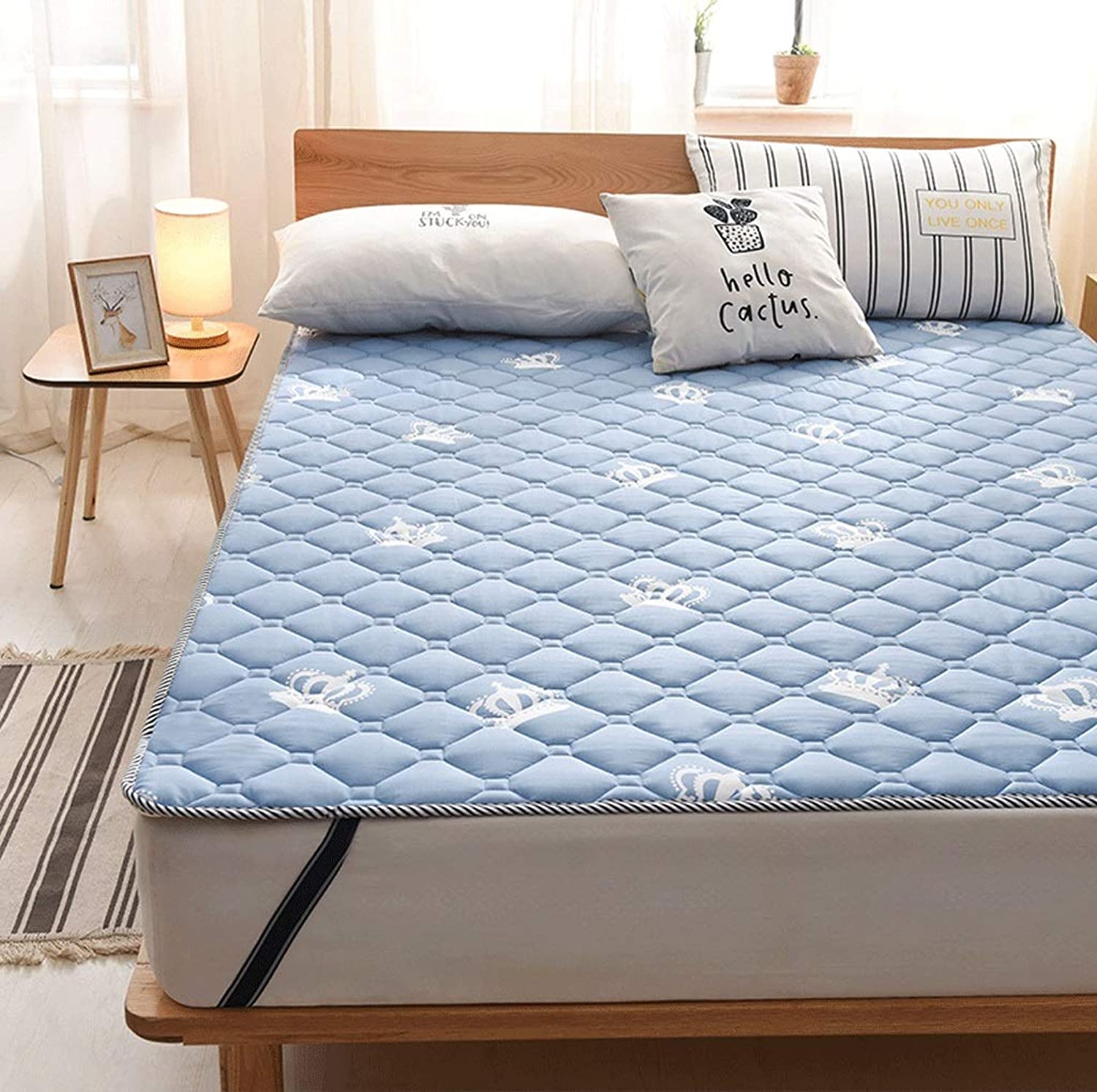 Washable Cotton Mattress, Thin Non-Slip Mat Cushion, Foldable Student Dormitory Bed G (color   C, Size   120X200cm)