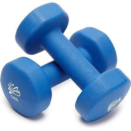 PROIRON Neoprene Dumbbell 12kg Set with Stand (1 kg+2kg+3kg ...