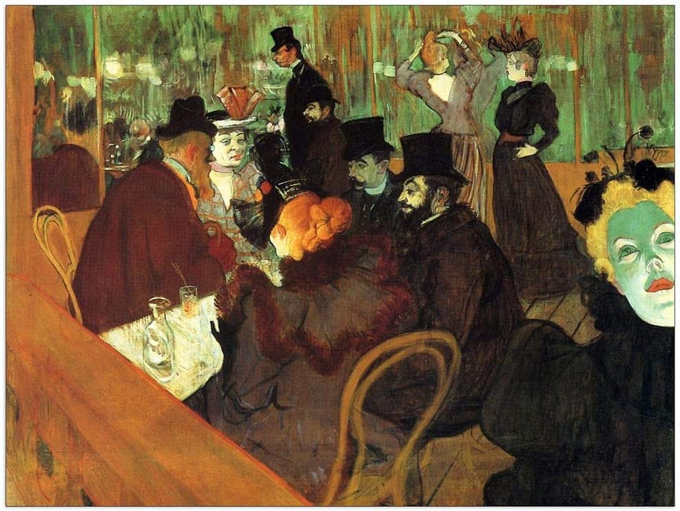 ArtPlaza Toulouse-Lautrec Purchase - In the Moulin Panel New York Mall Rouge Decorative
