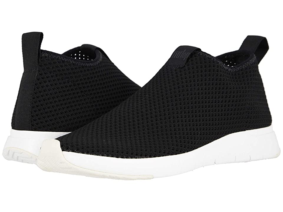 a9737a63210a FitFlop Air Mesh Slip-On (Black White) Women s Shoes
