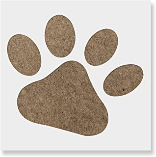 Dog Paw Stencil Template - Reusable Stencil with Multiple Sizes Available