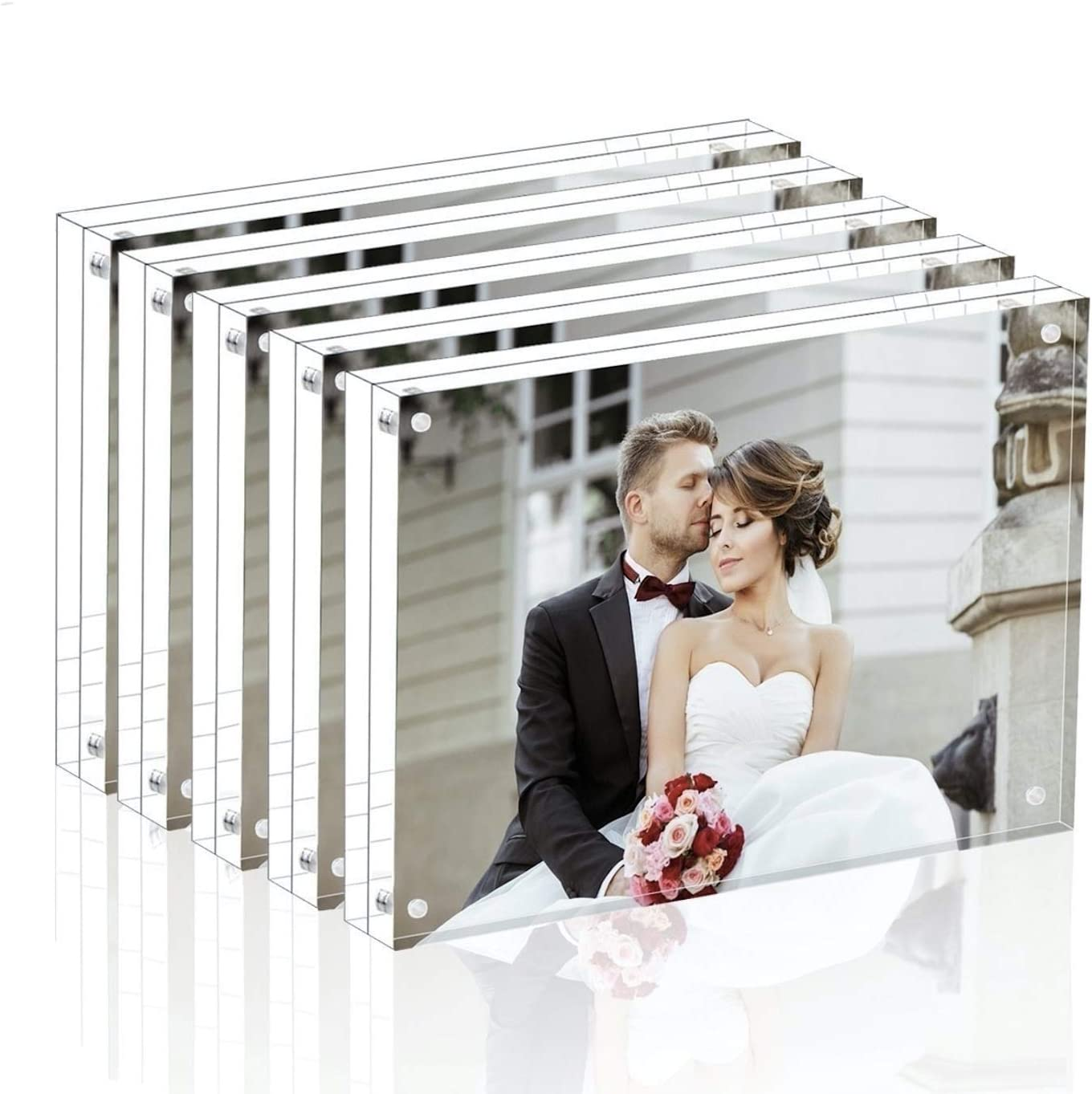 Magicool Premium Acrylic Max 44% OFF Photo Magnet Classic Frame- -Double Frame