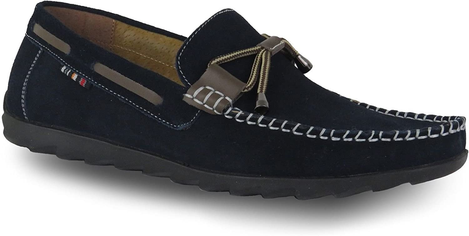 Mens New Slip On Loafers Tassel shoes Smart Casual Designer UK Size 8-9 RRP £69