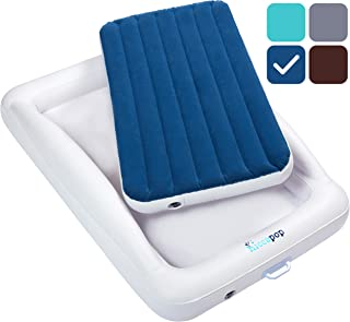 hiccapop Inflatable Toddler Travel Bed with Safety...