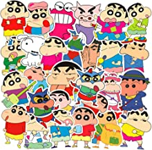 Crayon Shin-chan Anime Laptop Stickers, 50Pcs Pack Water Bottle Travel Case Computer Wall Skateboard Motorcycle Phone Bicycle Luggage Guitar Bike Stickers Decal