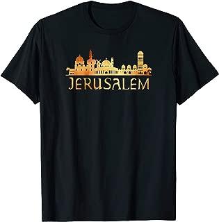 Jerusalem Skyline Silhouette Souvenir T-Shirt
