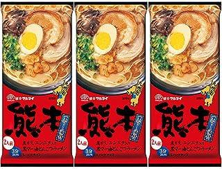 Marutai Kumamoto Tonkotsu Instant Noodle Soup Ramen Non-fried For 2 Servings 3 packs
