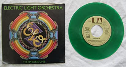 Telephone Line b/w Poorboy by Electric Light Orchestra (45 RPM) (Green vinyl)
