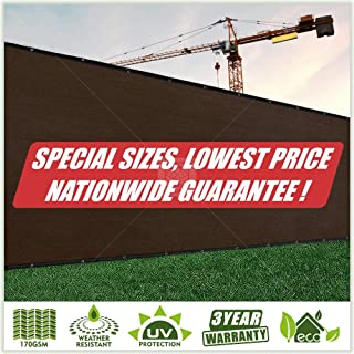 ColourTree Customized Size Fence Screen Privacy Screen Brown 3` x 24` - Commercial Grade 170 GSM - Heavy Duty - 3 Years Warranty