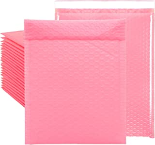 10 x 13 inch Bubble Mailers #4 Padded Mailing Envelopes 25 Packs, Pink Waterproof Self Seal Poly Bubble Mailer Padded Mail...