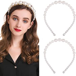 Artificial Alice Pearl Headband Trendy Hair Band Simple Pearl Design Gifts