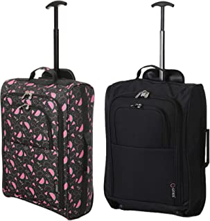 c10f0d20c Set of 2 Super Lightweight Cabin Approved Luggage Travel Wheely Suitcase  Wheeled Bags Bag (Watermelon