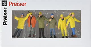 Preiser 68214 1/50 Modern Workmen with Outdoor Clothing Package(6) 1/50 Model Figure