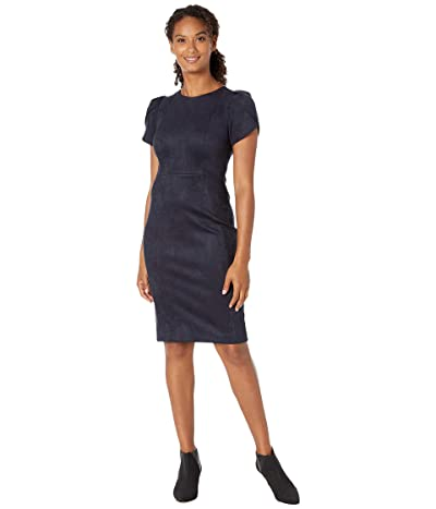 Calvin Klein Tulip Sleeve Sheath Dress (Navy) Women