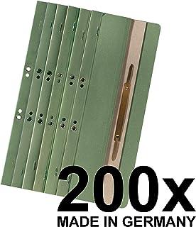 Falken, 80003940003F Paquet de 200 Reliures à lamelle en carte recyclée pour classeur à levier en 1/4 de page couleur 250...