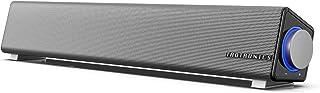 TaoTronics スピーカー pc サウンドバー 小型 ホームシアター 大音量 高音質 マイク端子とヘッドホン端子付 USB給電 AUX接続 テレビ/パソコン/スマホ/MP3対応 黒 6w