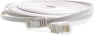 1aTTack CAT5e RJ45-kontakt platt nätverkskabel 20m vit