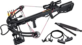 Leader Accessories Crossbow Package 150lbs 325fps Archery Equipment Hunting Bow with Quiver and 4pcs of Aluminum Arrow