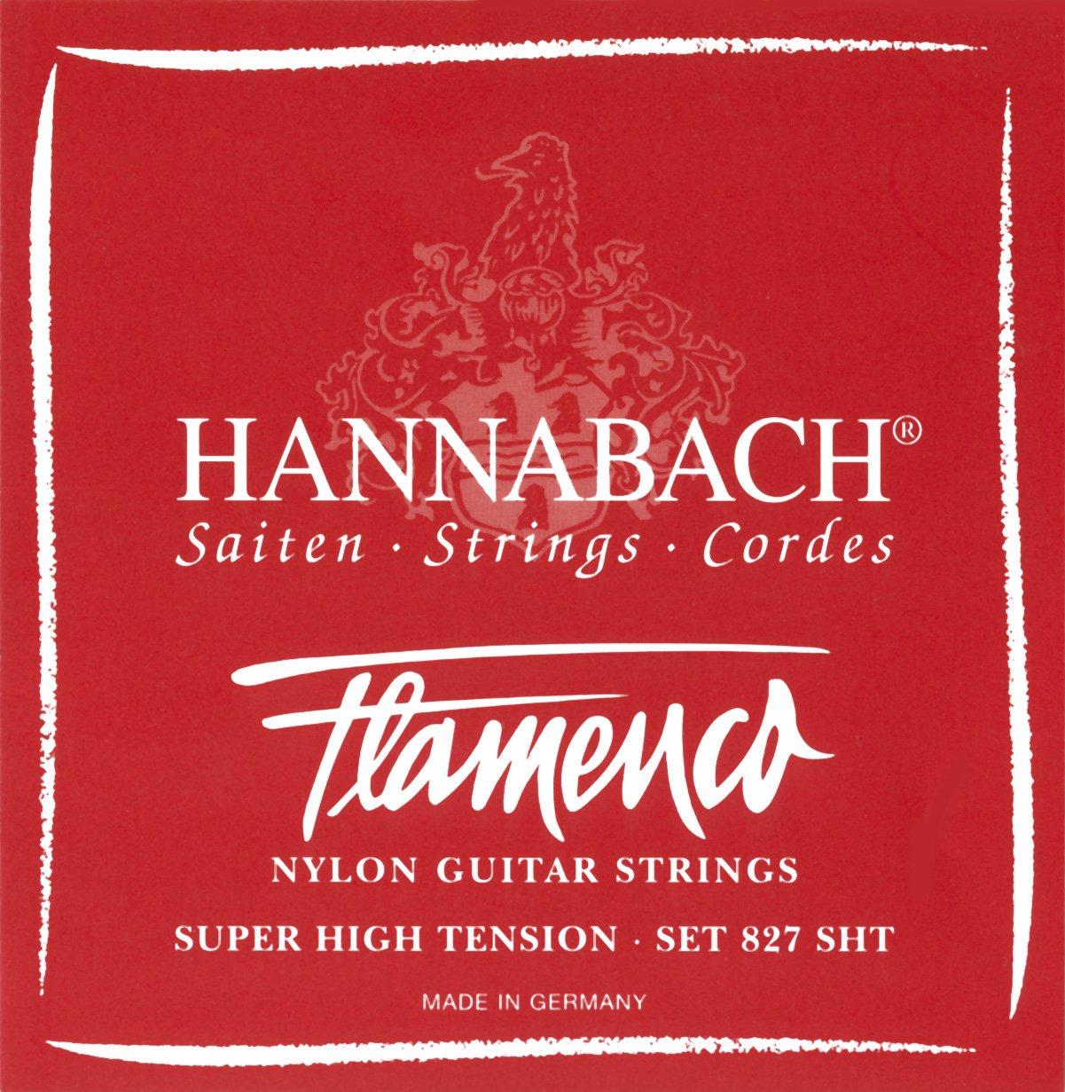 Juego de cuerdas para guitarra flamenca Hannabach 827 SHT. Tensión ...