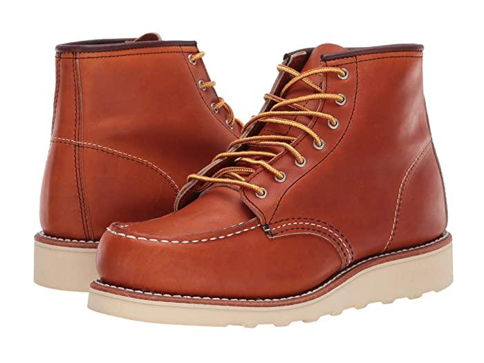 Men's Vintage Workwear Inspired Clothing Red Wing Heritage 6 Classic Moc Oro Legacy Womens Lace-up Boots $290.00 AT vintagedancer.com
