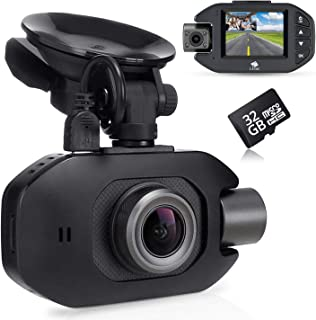 Z-Edge Z3Pro GPS Dual Dash Cam, Full HD 1080P Front & Inside Car Camera with Super Capacitor, Infrared LED Night Vision, W...