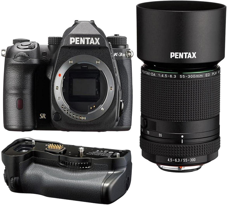 Pentax K-3 Mark III APS-C-Format DSLR Popularity Black DA with Memphis Mall HD 55 Camera