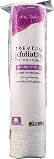 daylogic - Premium Exfoliating Cotton Rounds Multipack - Pack of 3, 80 Count Per Pack