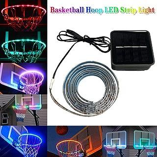 Stepworlf Night Lighting Lamp, Waterproof LED Strip Basketball Hoop Light Rim Kit.