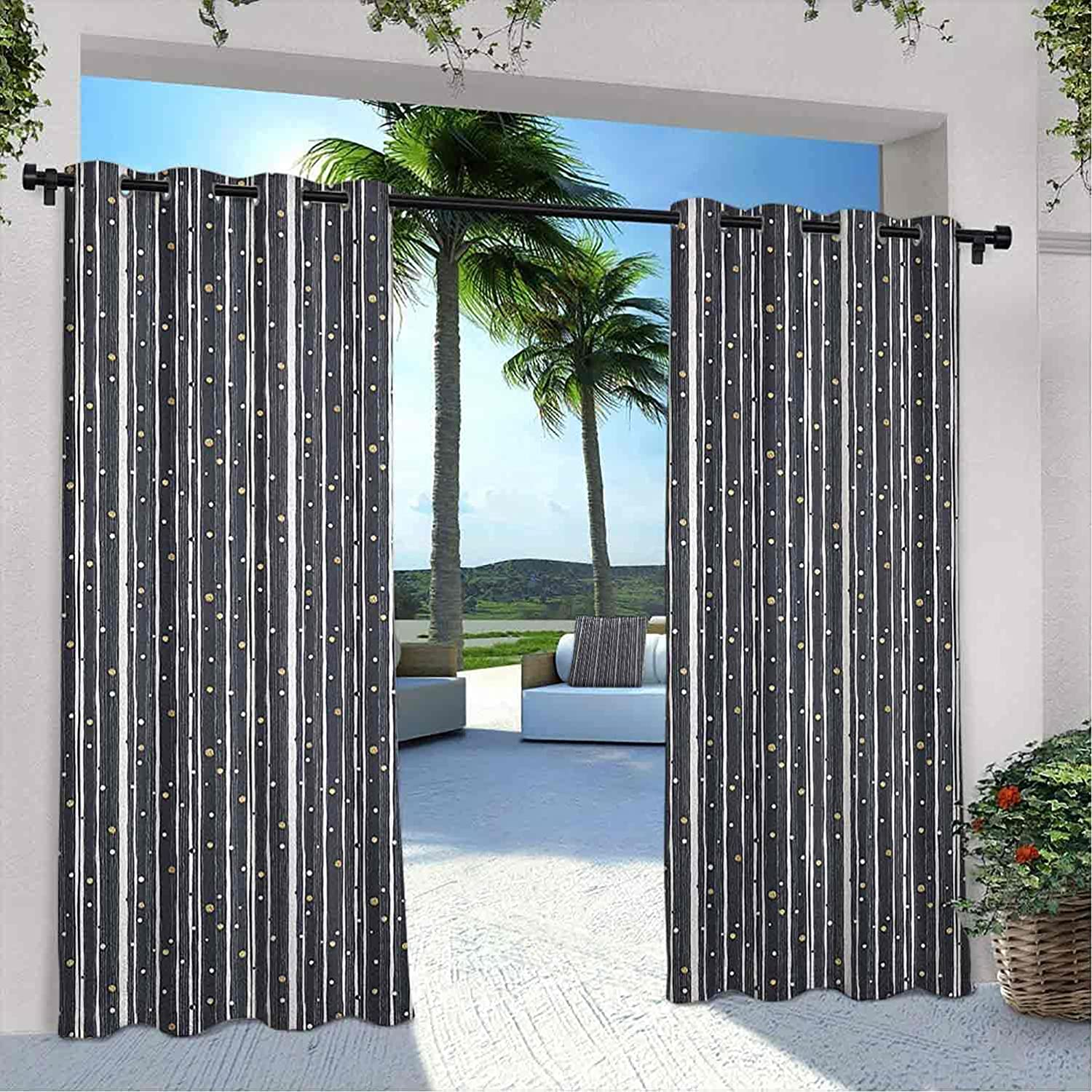 Terrace Outdoor Stripes Curtain Hand Large discharge sale Barcode Rare Pattern Drawn with