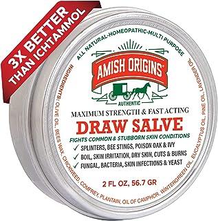 Amish Origins پمادهای ترشح شده را برای اسپلیترها ، زخمها ، نیش زنبور عسل ، اشیاء خارجی که در پوست تعبیه شده اند ، و تحریکات پوستی ، 2 اونس (1 بسته)