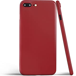 totallee iPhone 8 Plus Case, Thinnest Cover Premium Ultra Thin Light Slim Minimal Anti-Scratch Protective - for Apple iPhone 8 Plus Special Edition (Jet Red)