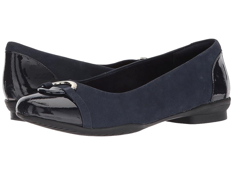 Clarks Neenah Vine (Navy Nubuck/Navy Patent Leather Combination) Women