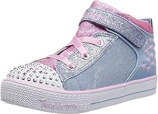 Skechers Kids' Shuffle Lite-Dainty Denims Sneaker
