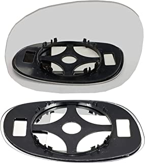 Left Near Passenger Side Heated Convex Clip On Door Wing Mirror glass #FoGalaxy95-06-LCH